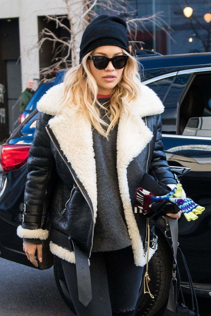 Rita Ora – Street Style Out in Moto Jacket in New York
