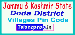 Doda District Pin Codes in Jammu Kashmir  State