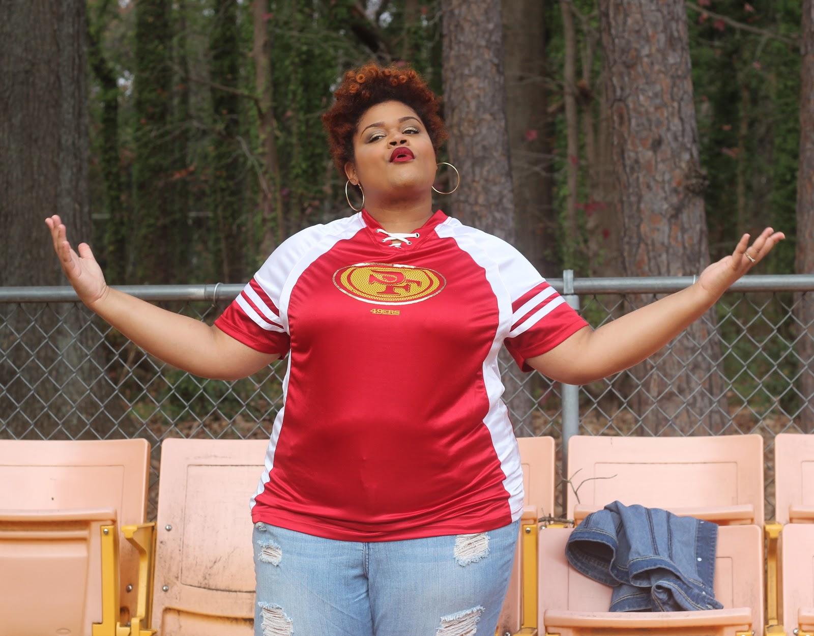 Women s San Francisco 49ers Majestic Scarlett Draft Me Plus Sizes T-Shirt 677b41854