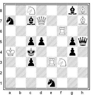 Problema de mate en 2 compuesto por Dragan Stojnic (1º Premio, Sahovski Glasnik 2003)