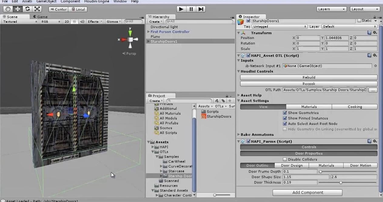 Houdini Engine for Unity Starship Doors Asset   CG TUTORIAL