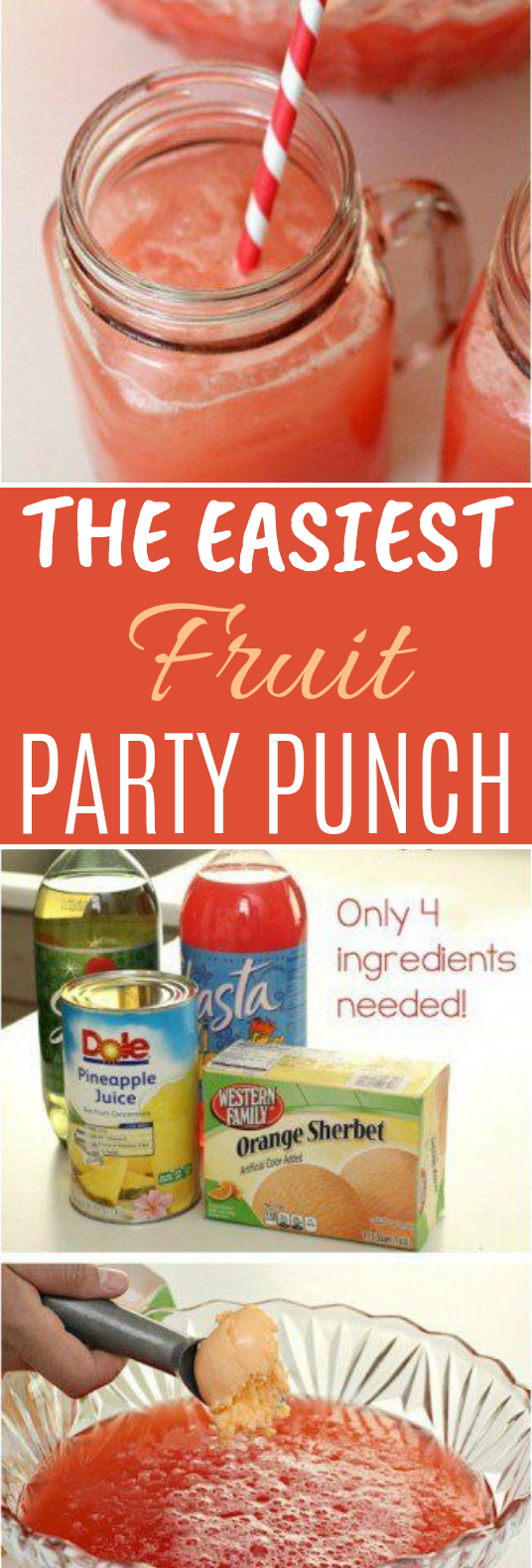 The Easiest Fruit Party Punch #drink #summer