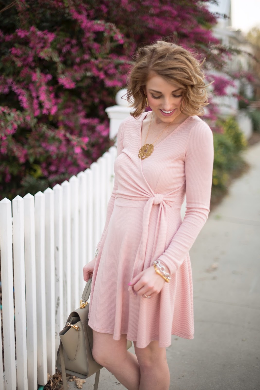 Blush Dress - Something Delightful Blog