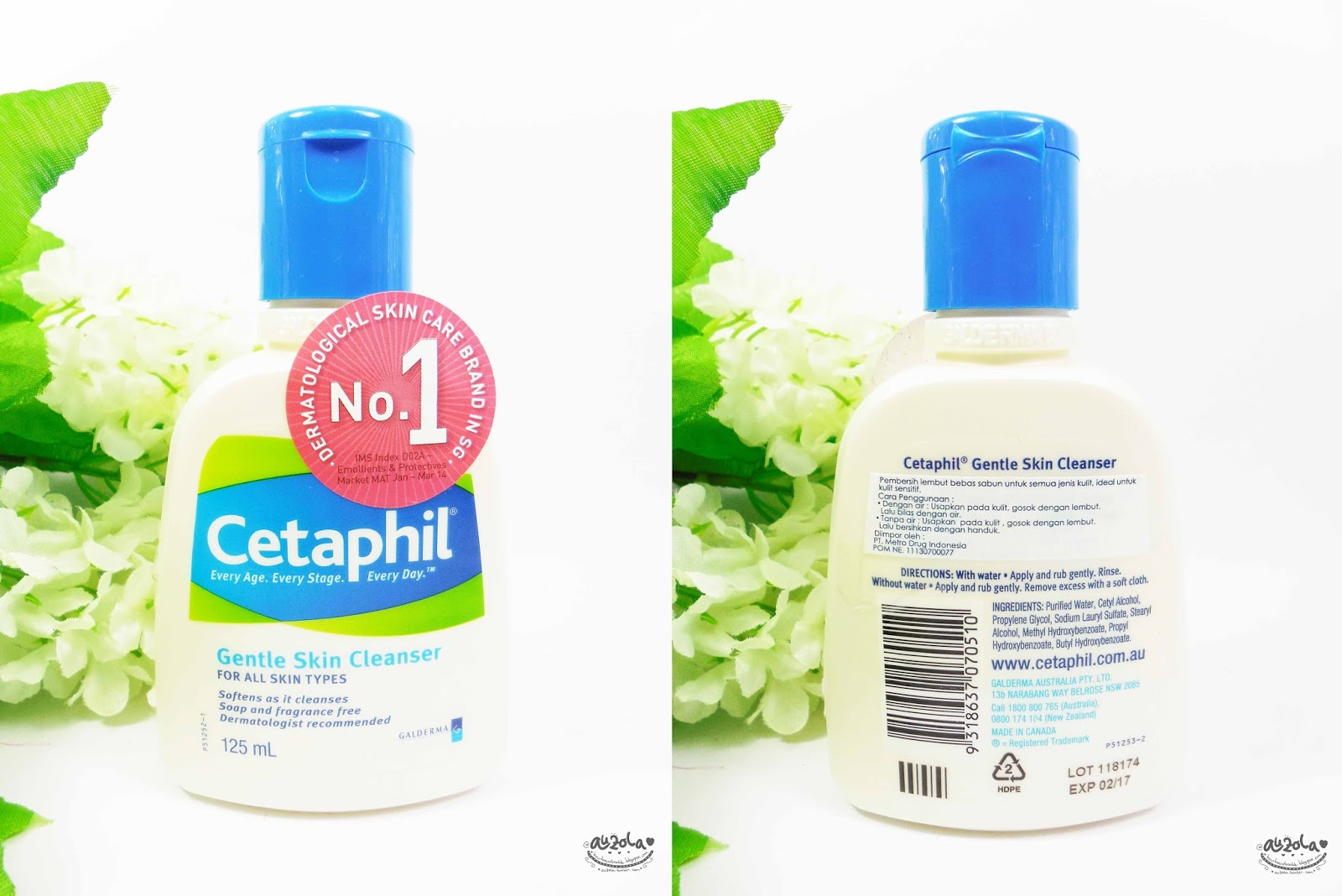 Rainbowdorable By Auzola Indonesian Beauty Blogger Experience Cetaphil 125 Ml Gentle Skin Cleanser The Packaging Is So Simple And Nothing Special About It Has This Almost White Satin Color With Blue Cap I Quite Like Flip Its Easier To Use