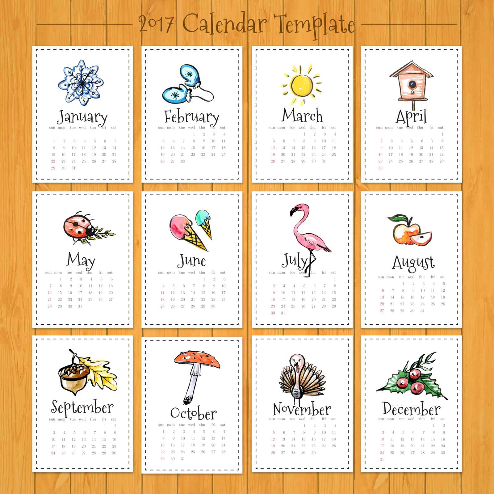 Calendar Drawing Design : カレンダー無料テンプレート きゃんつくばっと
