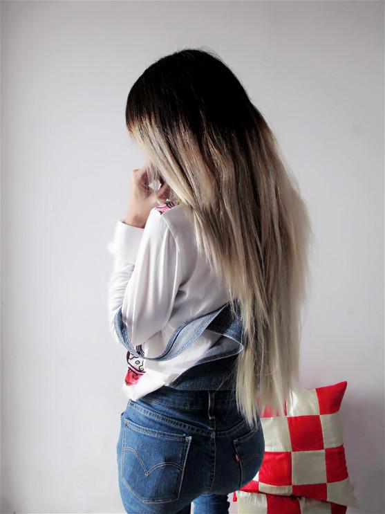 platinium blonde hair