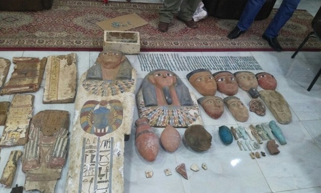 464 Egyptian artefacts seized by police in Fayoum