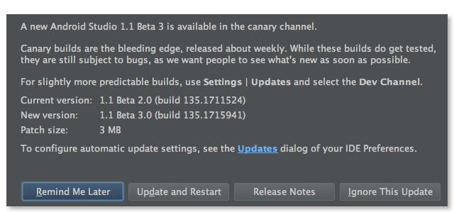 Android Studio 1.1 Beta 3