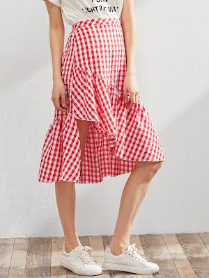 es.shein.com/es/Elastic-Waist-Gingham-Asymmetric-Frill-Skirt-p-358119-cat-1732.html?aff_id=4665