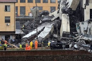 TRAGEDY!  35 Dead Casualties Reported As Bridge Collapsed In Italy (Photos)