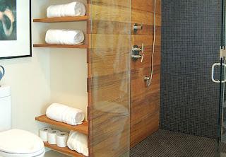 Установка полок в ванной комнате