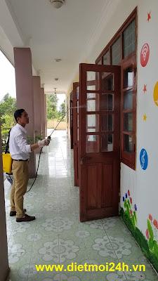 Diệt mối Trường TH Nguyễn Văn Cừ - Đông Triều - Quảng Ninh