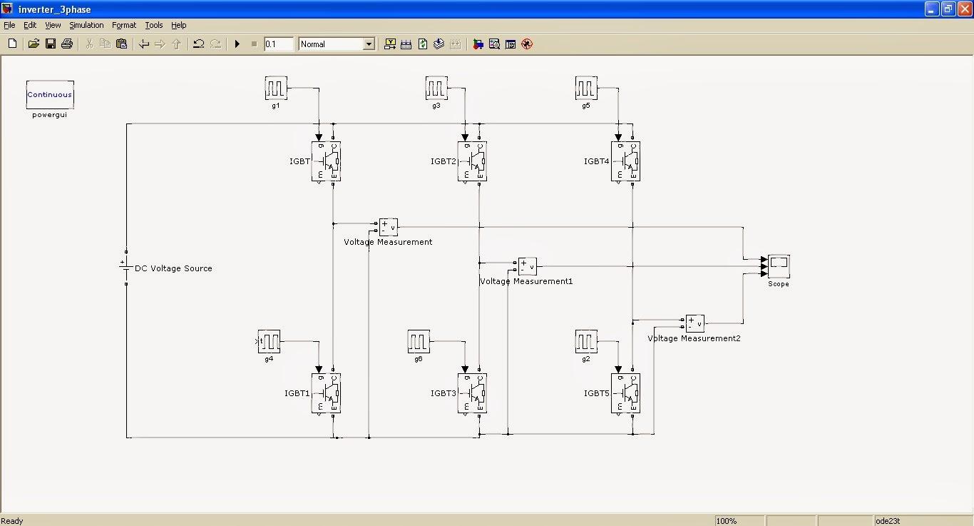 3 Phase Inverter Simulation using Simulink - Speaking
