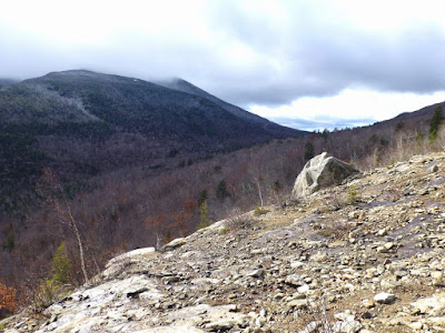 View towards Whiteface and Esther from the Cobble Ledge lookout in Wilmington, Sunday 11/06/2016.  The Saratoga Skier and Hiker, first-hand accounts of adventures in the Adirondacks and beyond, and Gore Mountain ski blog.