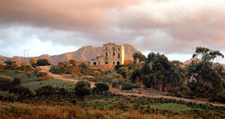 The ruins of the Bonaparte mansion at Luzipeo in Corsica