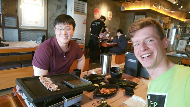 Korean BBQ with old friends