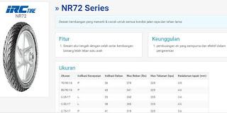 ban depan - IRC NR72 Series 2.75-17