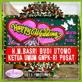 Toko Bunga Papan Happy Wedding BPWD-007