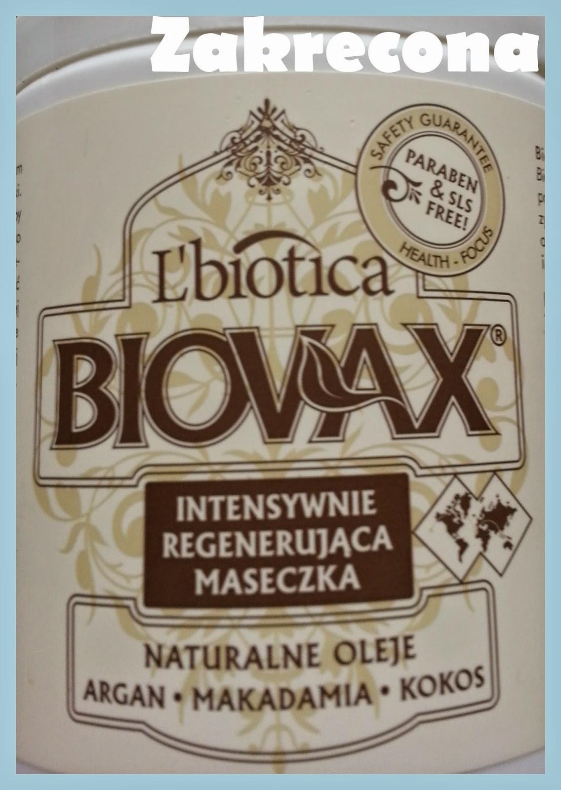 L'biotica BIOVAX naturalne oleje argan, makadamia, kokos. Intensywnie regenerująca maseczka do włosów