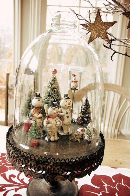 Polka Dotty Place Christmas Terrariums