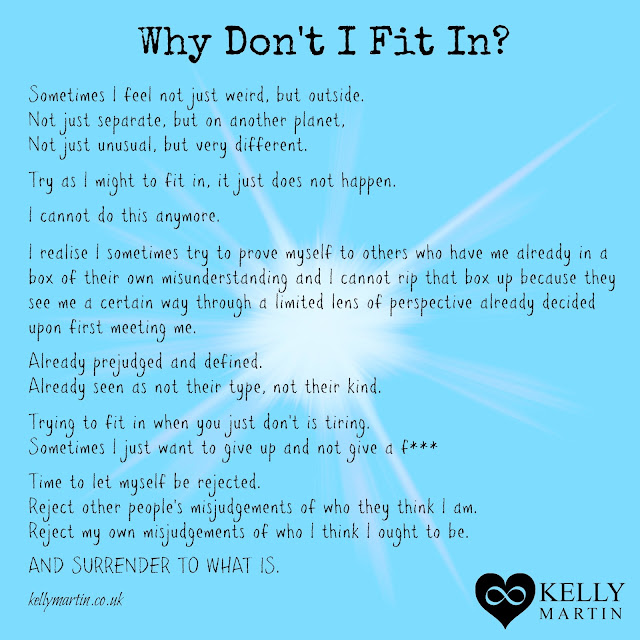 why dont i fit in belonging poem Kelly Martin