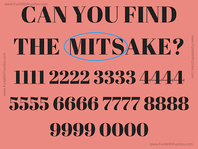 Answer of Picture Riddles of Finding Mistake