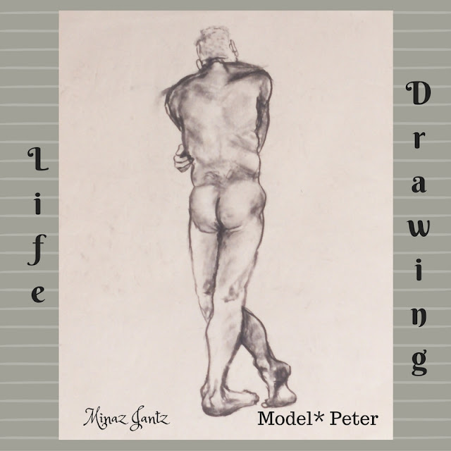 Life Drawing by Minaz Jantz Model Peter