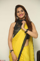 Cute Actress Ashwini in Yellow Saree Exclusive  057.JPG