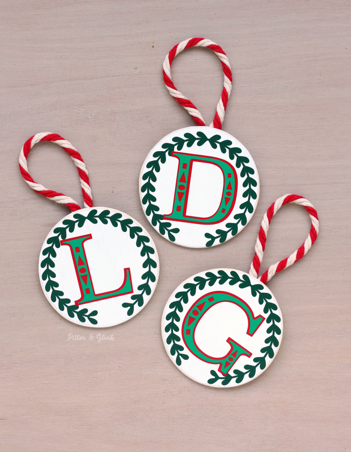 Make these beautiful DIY Layered Vinyl Monogram Ornaments easily using your Silhouette Cameo