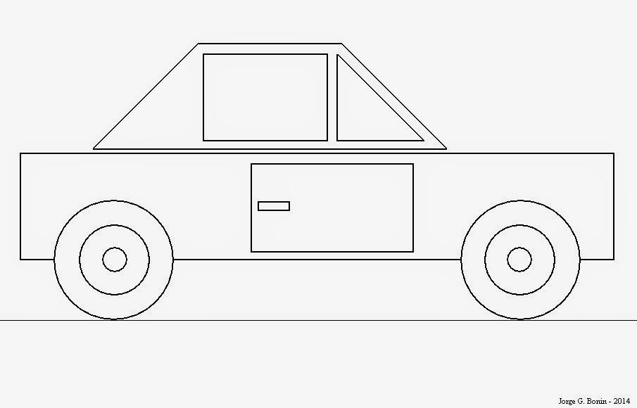 Arte No Paint: Desenho Geométrico Para Colorir: Carro