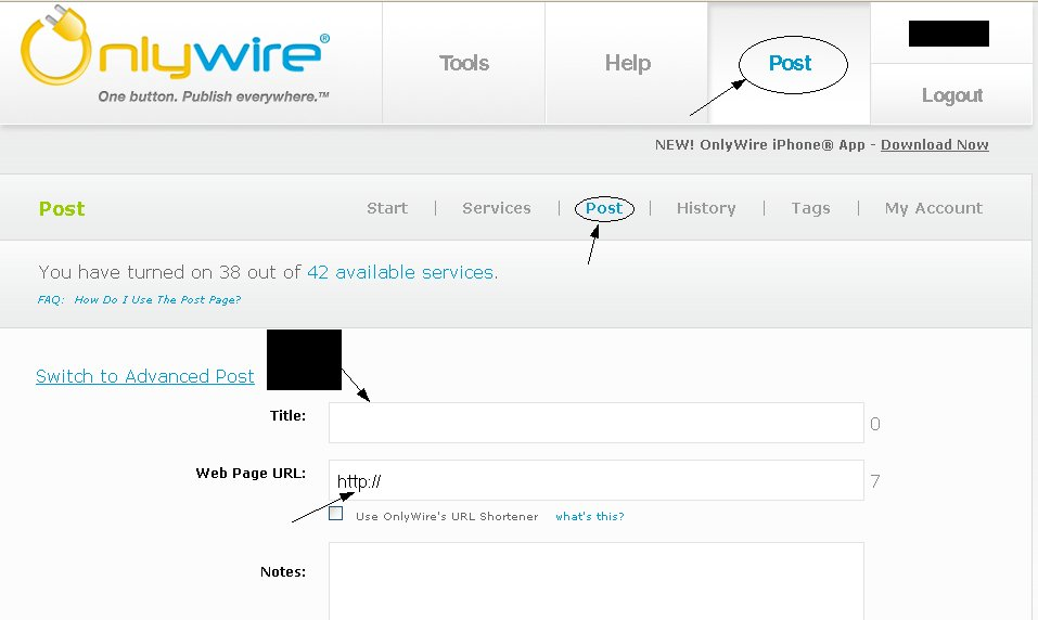 Auto Submit Bookmarking Onlywire