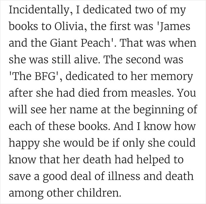 Roald Dahl Shut Down Anti-Vaxxers When He Lost His Daughter To Measles In 1962, And His Powerful Letter Is Still Relevant Today