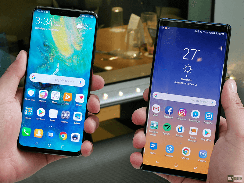 Huawei Mate 20 Pro vs Samsung Galaxy Note9 - Battle for the King of Android crown