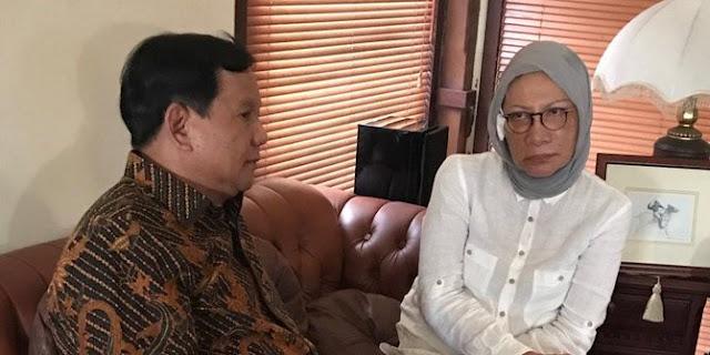 Prabowo Berhentikan Ratna Sarumpaet Dari Kampanye Nasional