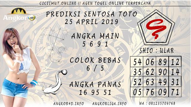 Prediksi Angka Jitu SENTOSA TOTO 25 APRIL 2019