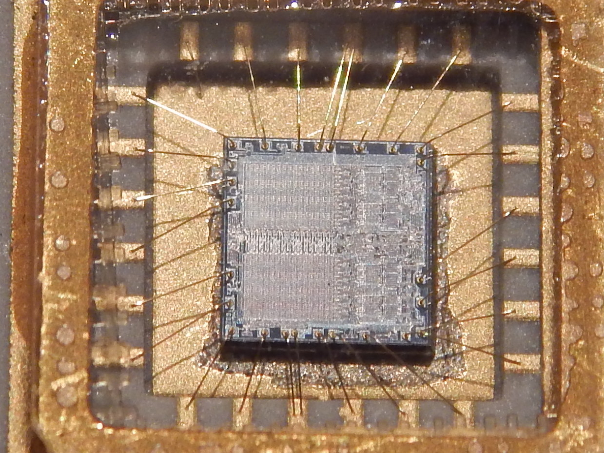 Inside A Typical Microchip You Can See The Integrated Circuit And The