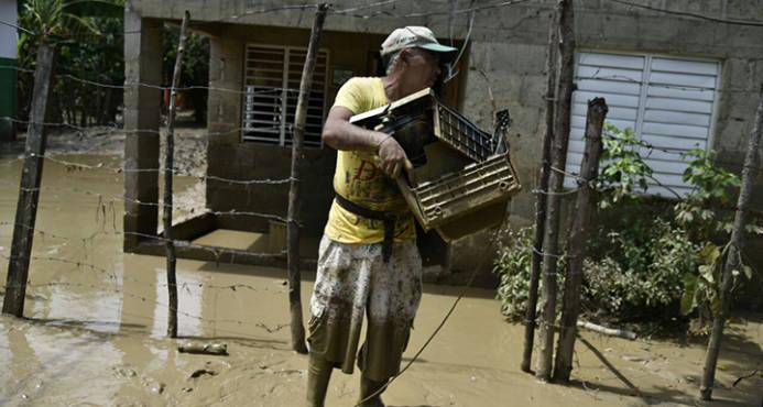 Comunidades aisladas por inundaciones en el Bajo Yuna