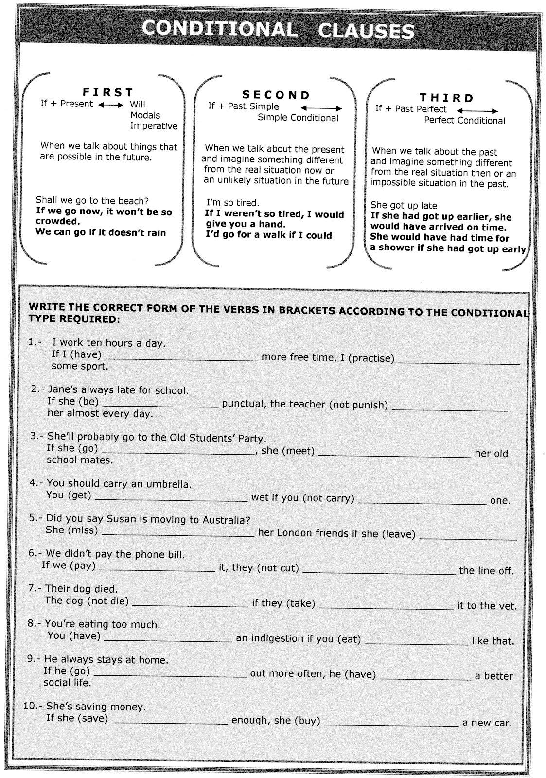 English For U Conditional Sentences Worksheet