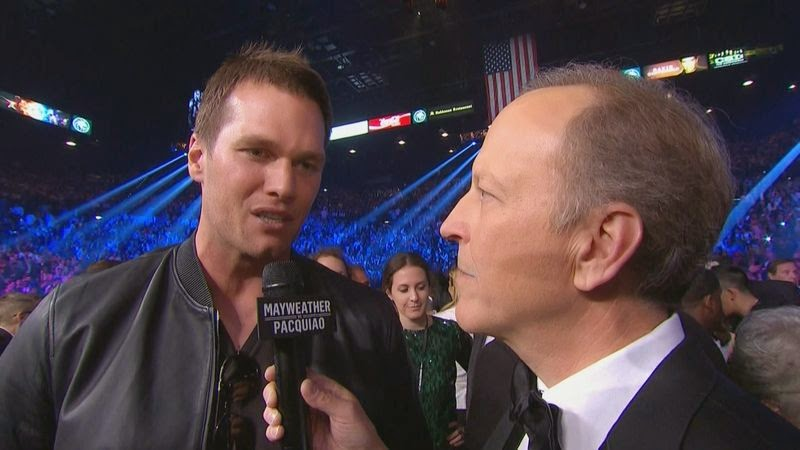 Tom Brady at Pacquiao-Mayweather fight