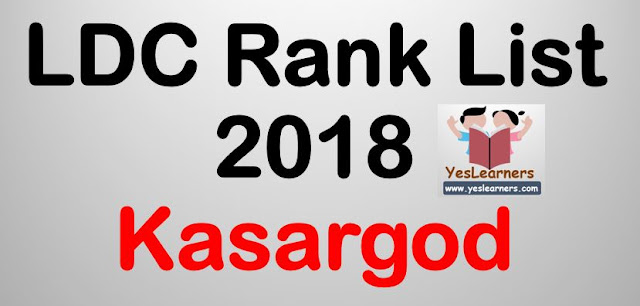 LDC Rank List 2018 - Kasargod