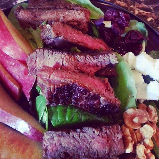 Cranberry Feta Steak Salad