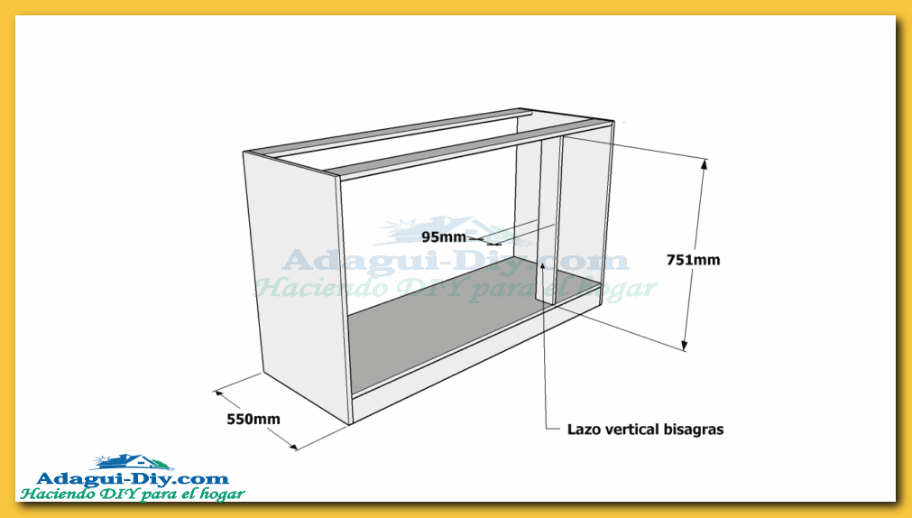 Como hacer muebles de cocina plano mueble bajo mesada de for Fabricar muebles