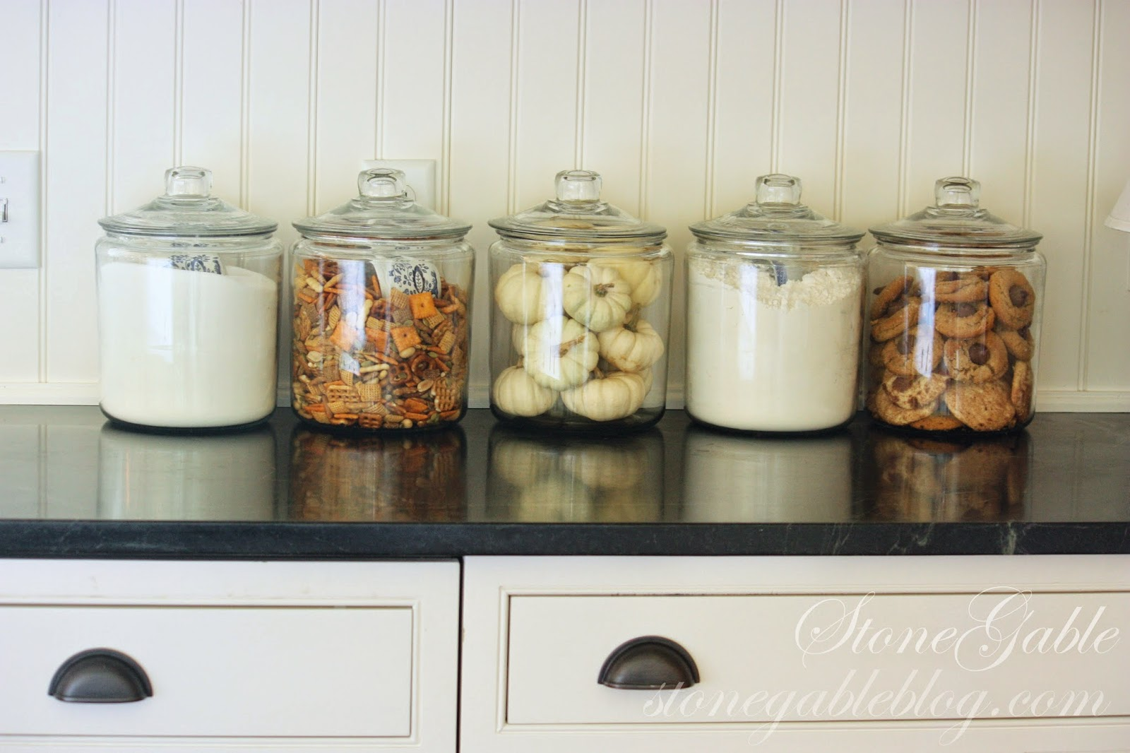 decorative glass jars for kitchen lowes kitchens designs 10 elements of a farmhouse stonegable