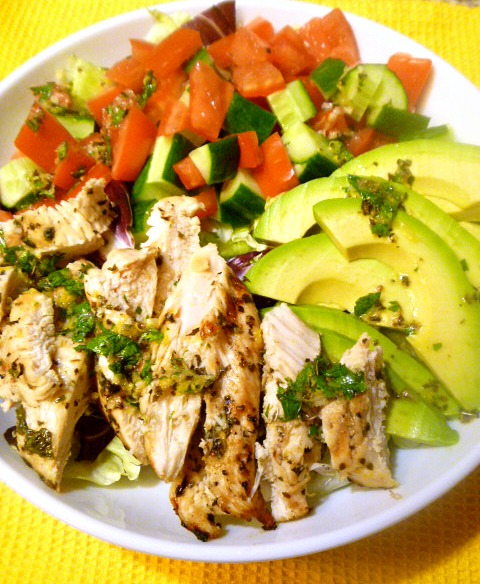 9 Summer Grilling Favorites 2018 - Grilled Lemon Herb Mediterranean Chicken Salad - Slice of Southern