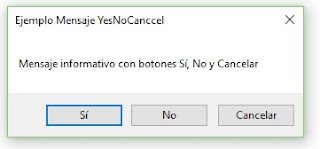 MessageBox de con Botón Si, No y Cancelar (YesNoCancel)