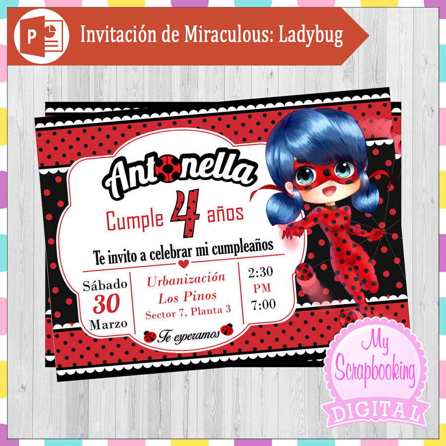 Invitación De Miraculous Ladybug Tutorial Power Point