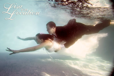 Lisa on Location New Braunfels underwater trash the dress wedding photography
