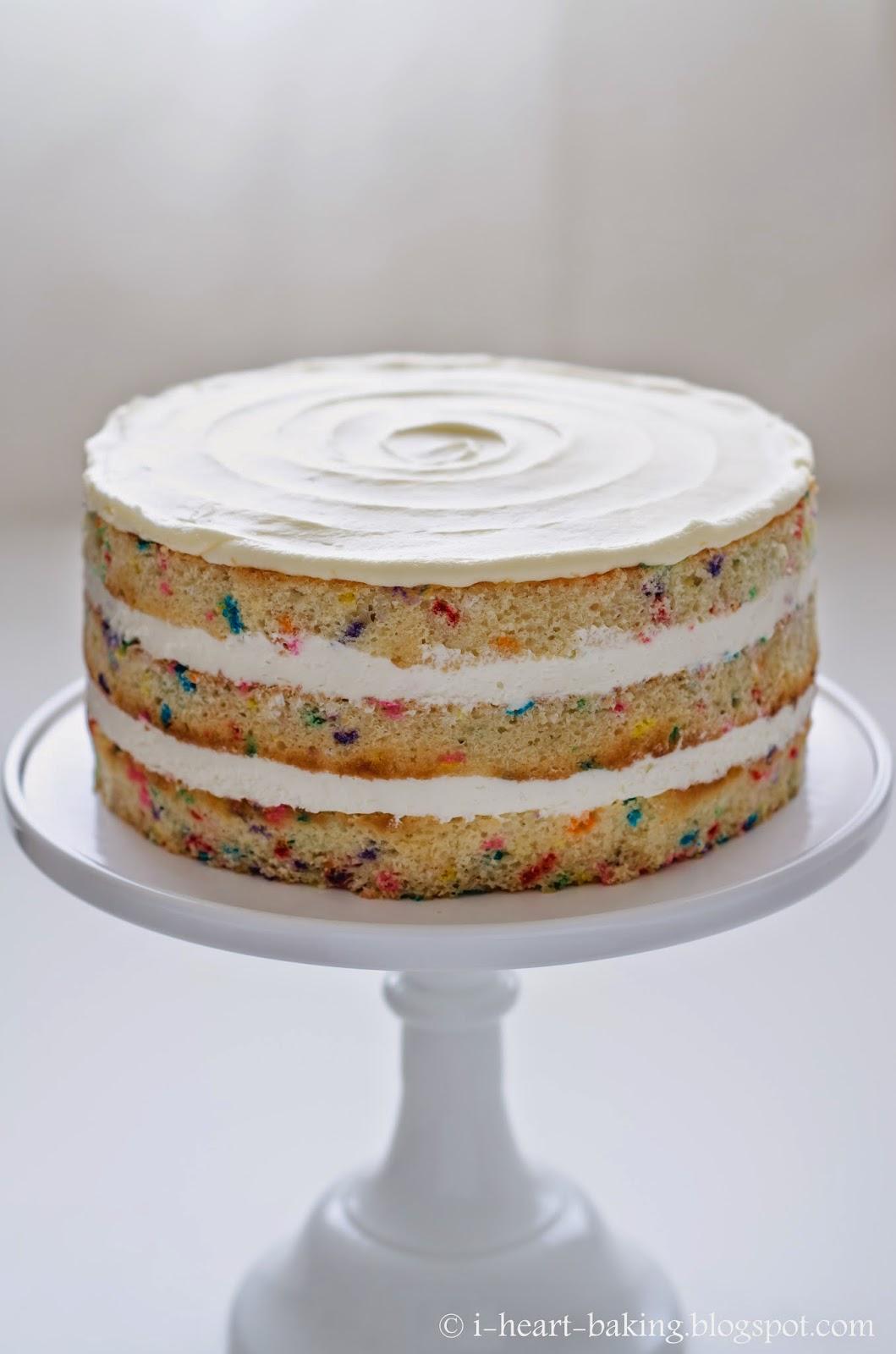 I Heart Baking Naked Funfetti Layer Cake