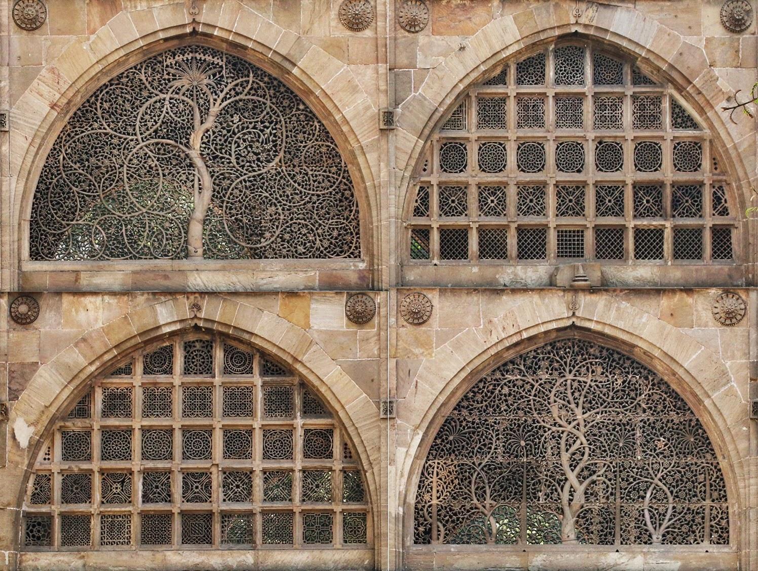 Sidi Saiyyed Mosque Ahmedabad Jali IIM Logo tree of life sayed sayeed masjid islam muslim
