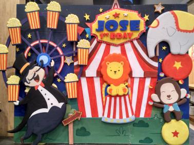 dekorasi styrofoam tema sirkus